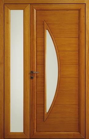 Poupin projets de r novation les portes d 39 entr e bois for Lapeyre porte d entree bois